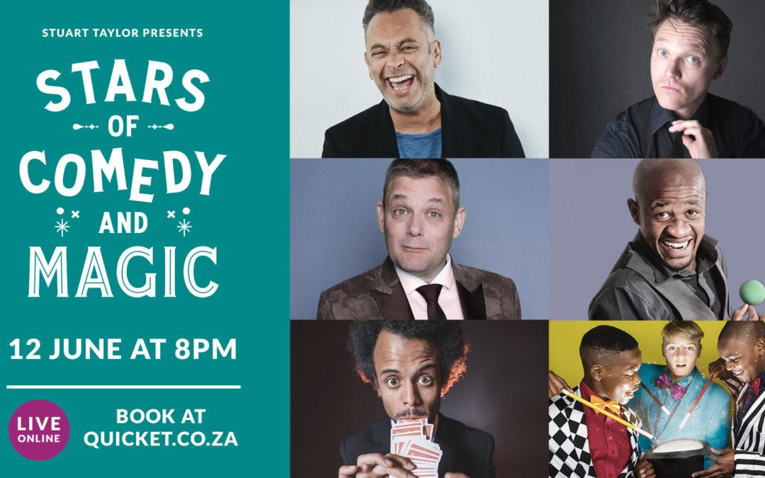 Stars of Comedy & Magic LIVE online